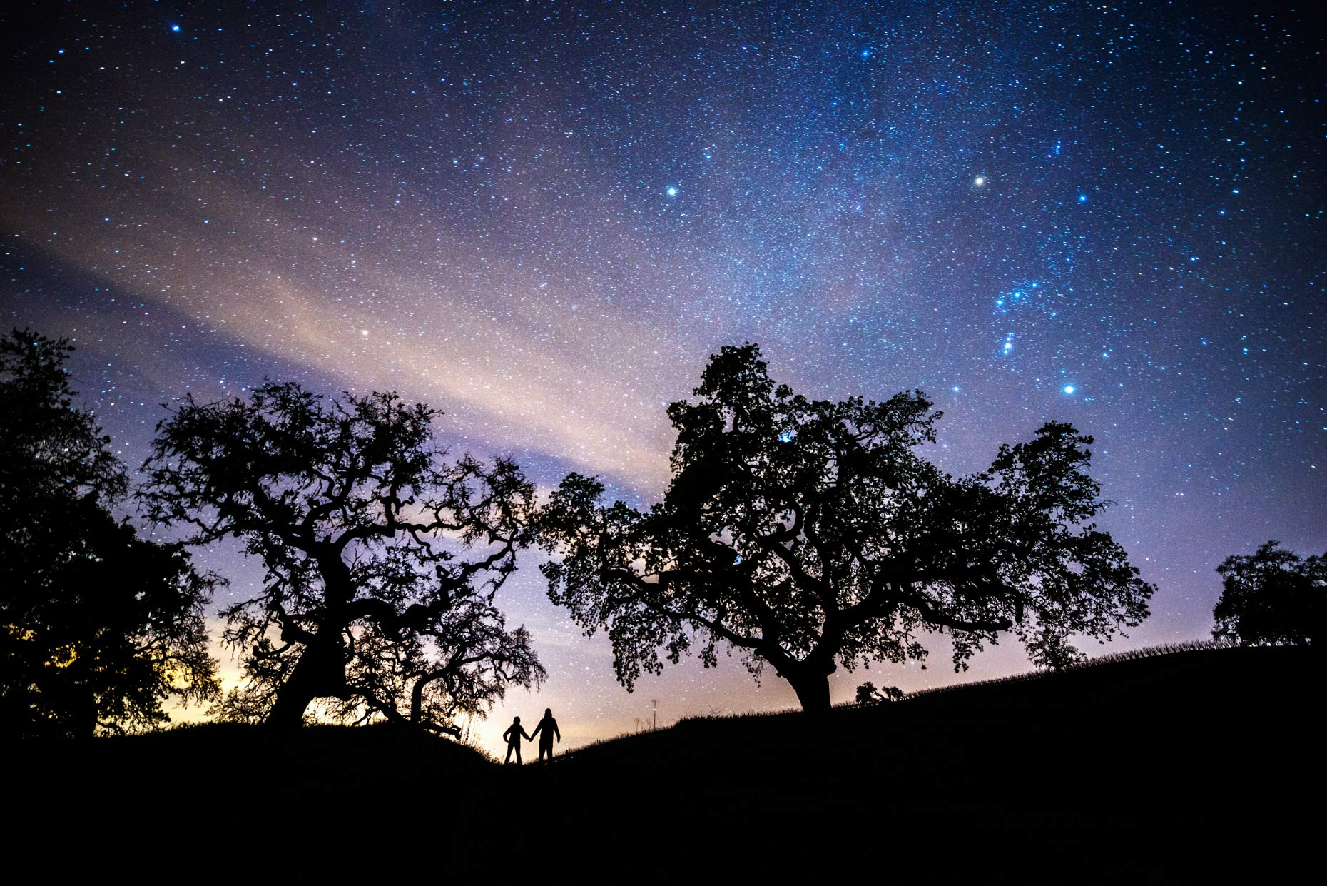 Night Sky - Two People Under The Stars - Alexander Valley Vineyards, California
