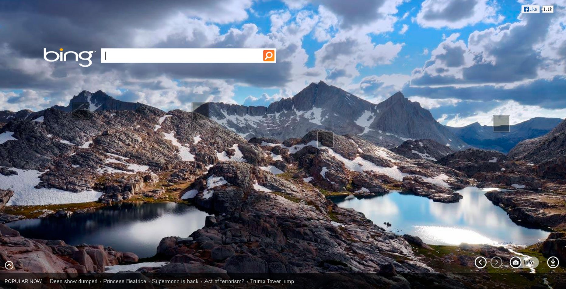 Microsoft - Bing Homepage - The Sierra High Route, California