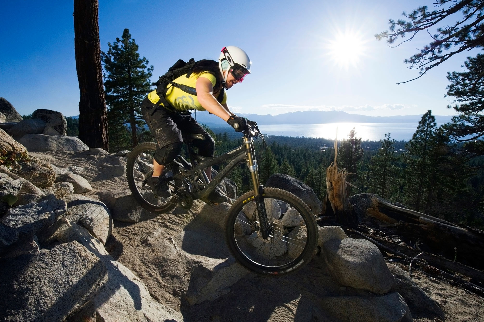 Mountain Biking The  Van Sickle Trail - South Lake Tahoe, California