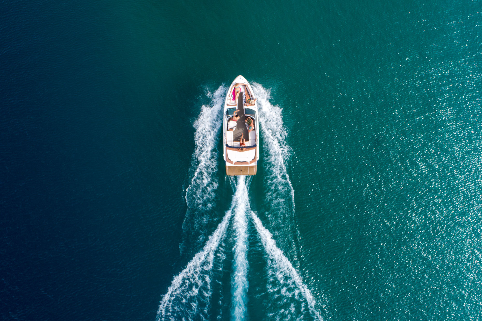 Drone - Boat Lake Tahoe, California