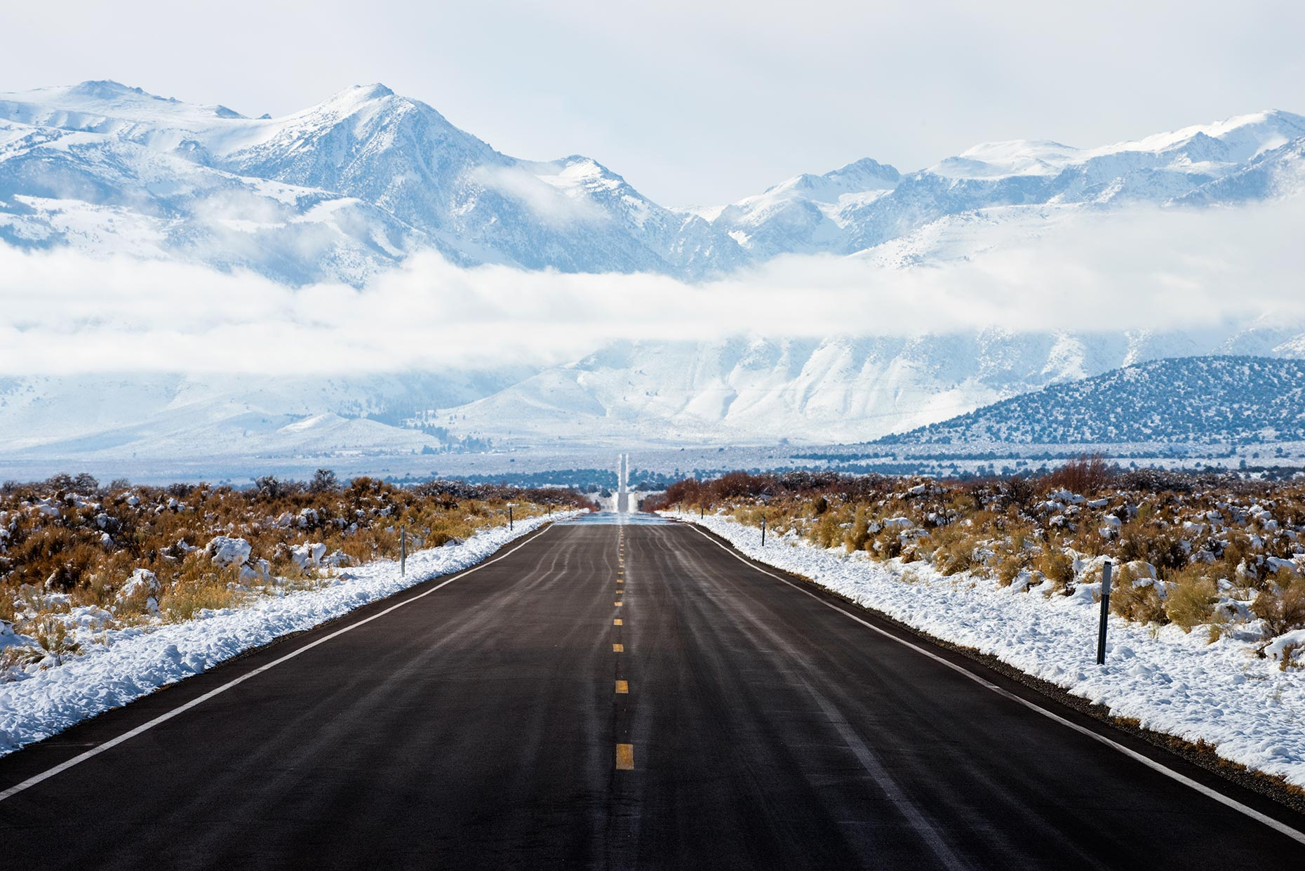 Snowy Mountain Road - Eastern Sierra Nevada, California