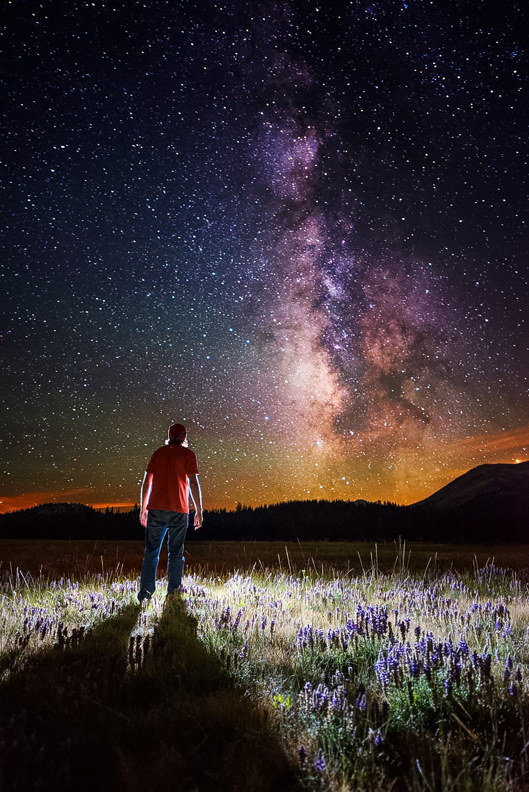 Night Sky - Hope Valley Night Self Portrait - California