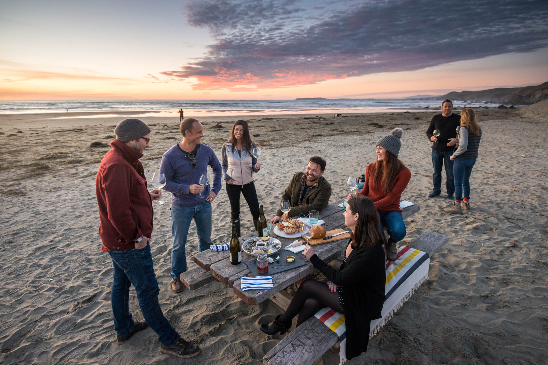Lifestyle - North Coast Picnic At Sunset, Dillon Beach, California