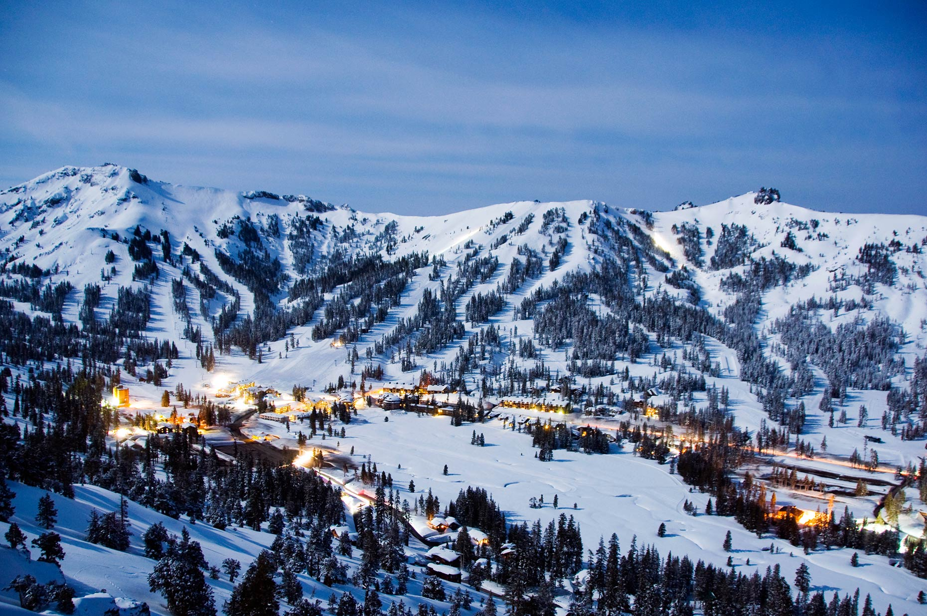 Kirkwood Mountain Resort At Night - California