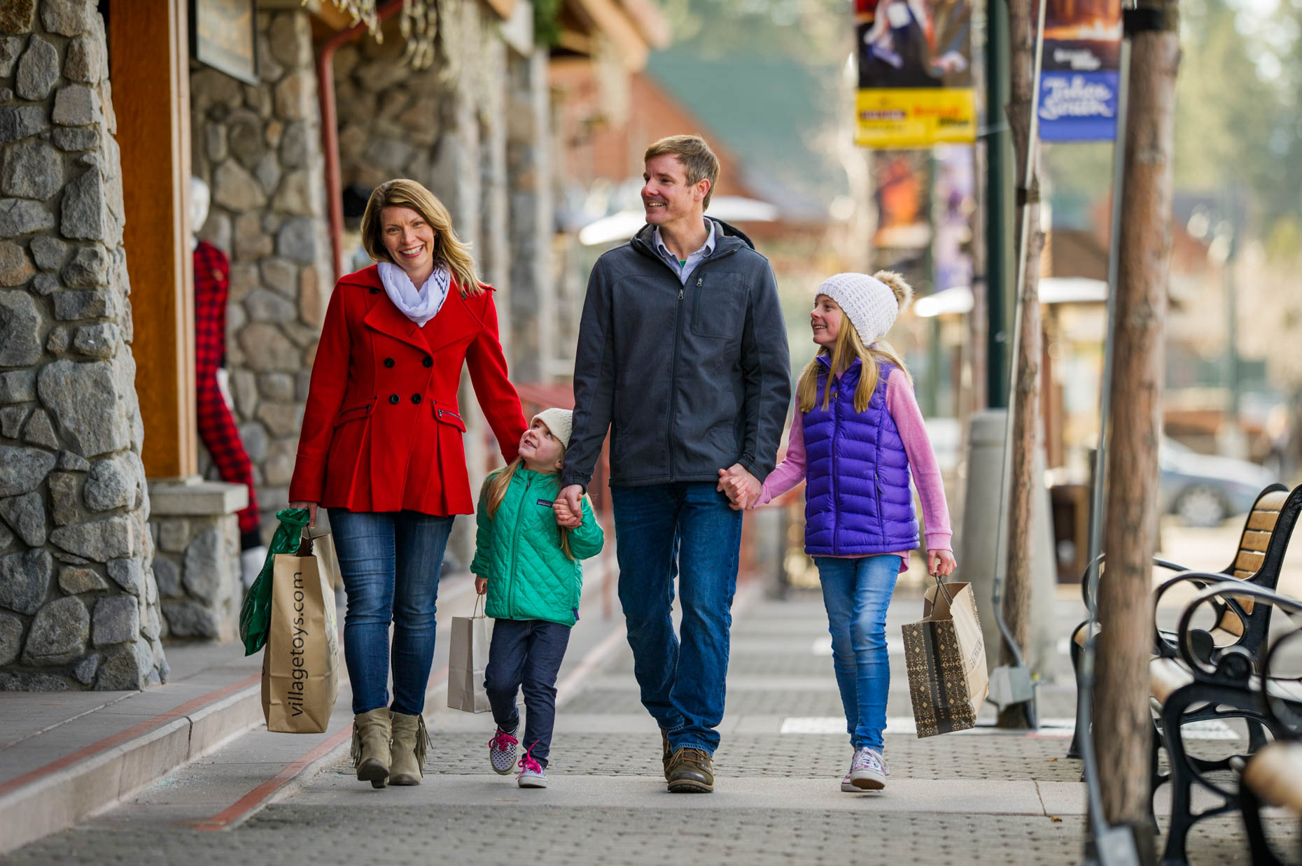 Lifestyle - Family Shopping, Heavenly Village, South Lake Tahoe, California