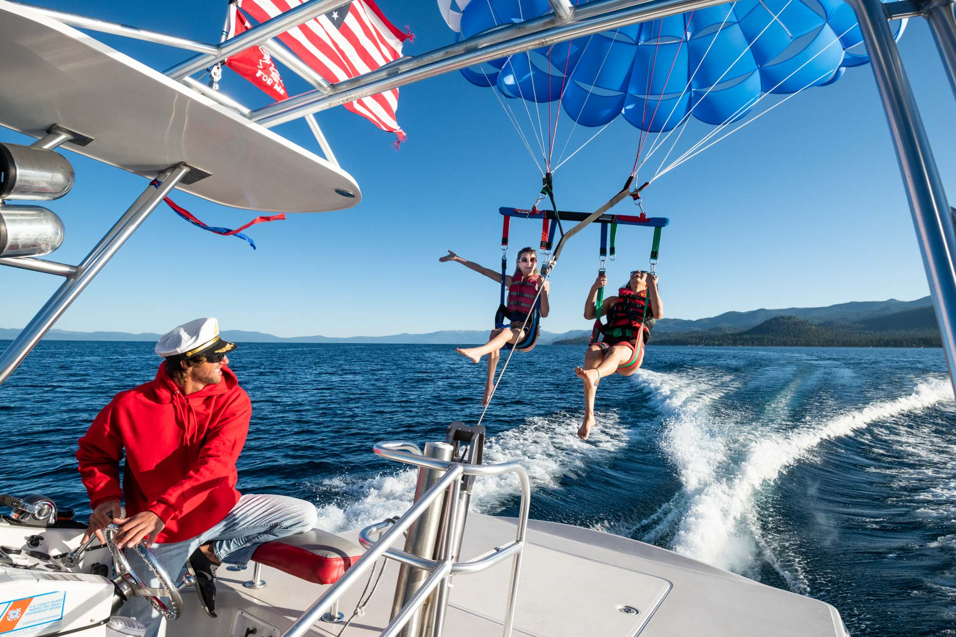 Parasailing - Lake Tahoe, California
