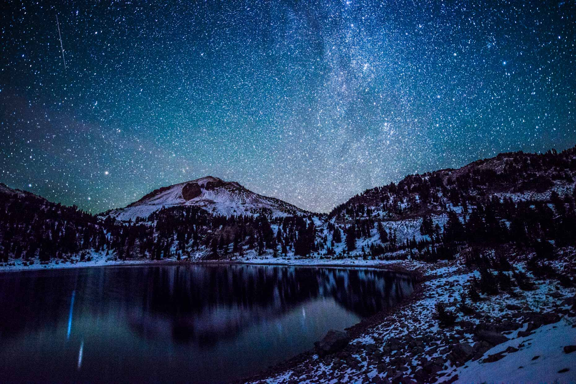 Lake Helen at night - Lassen Volcanic National Park