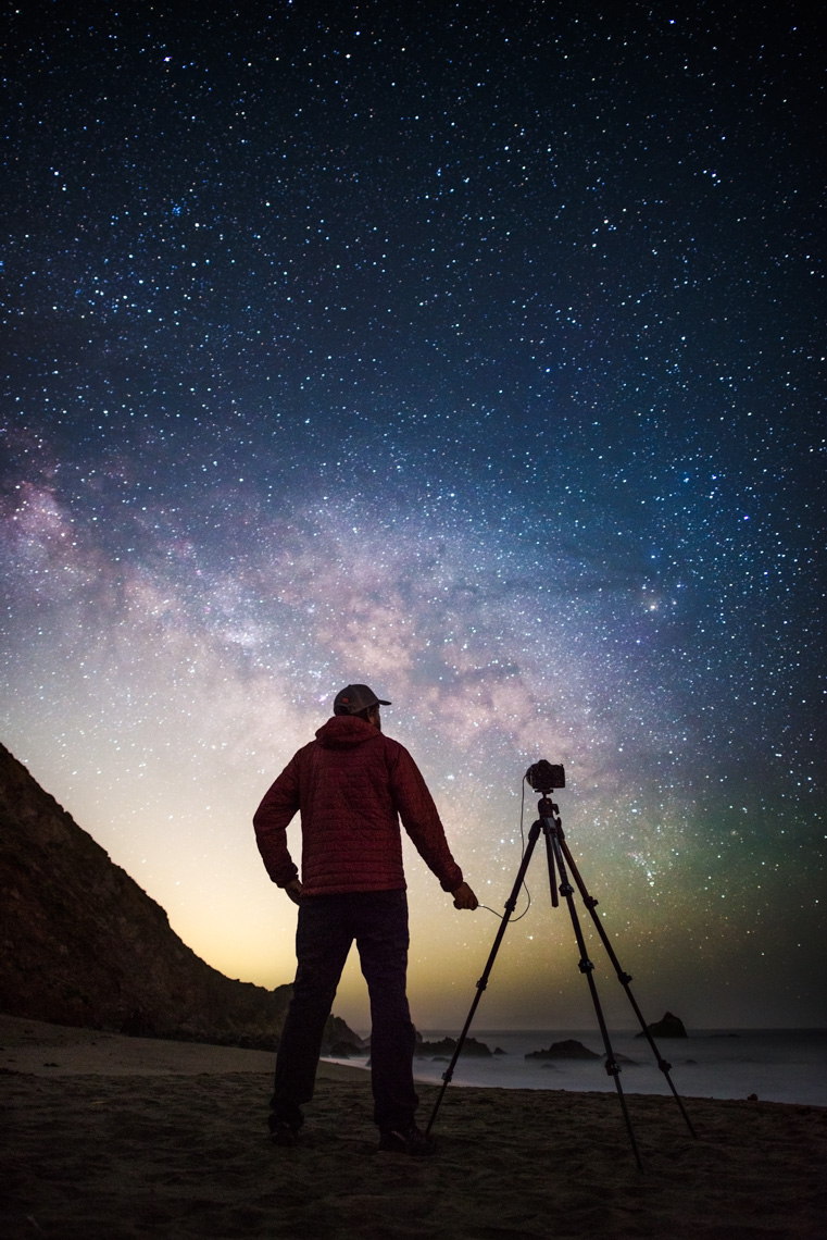 Night Sky - Self Portrait - Bodega Bay, California