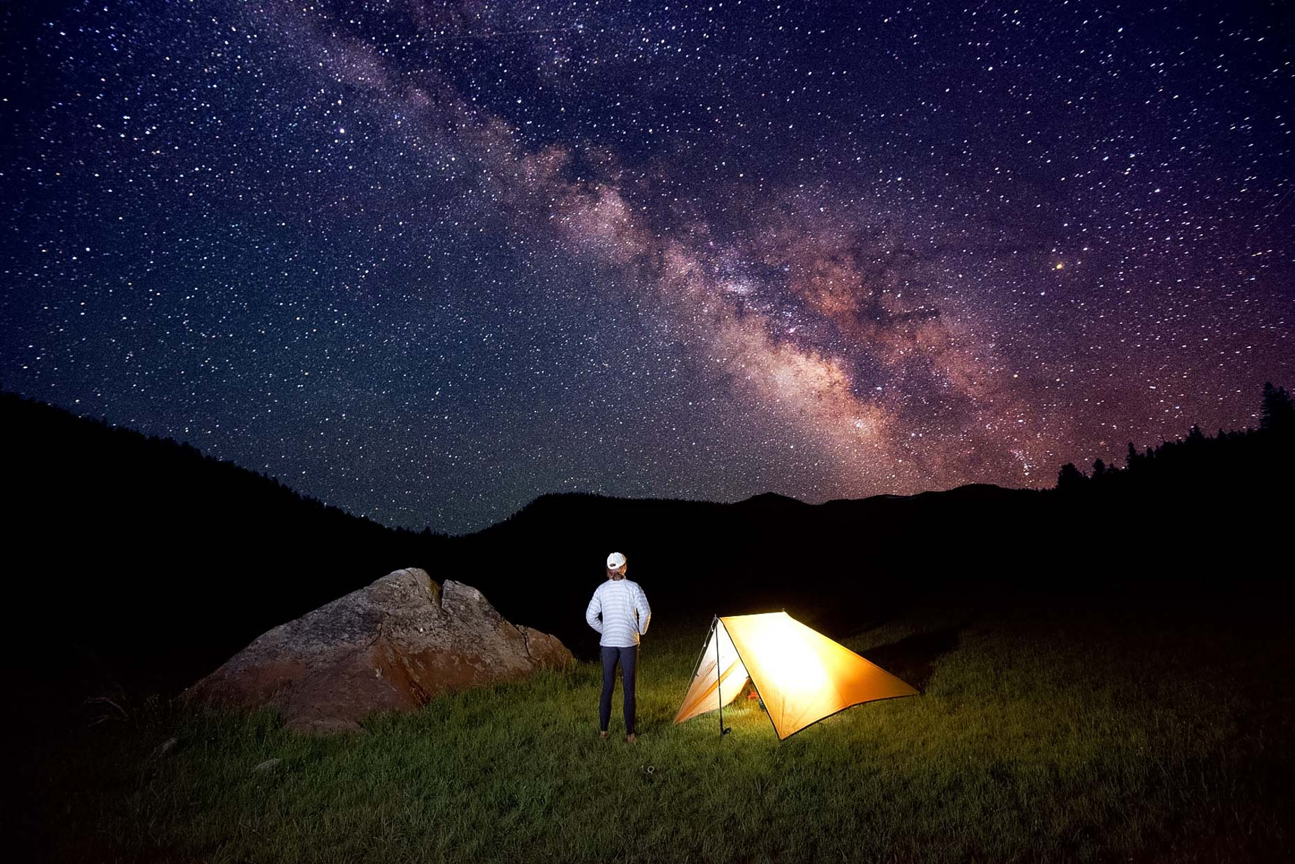 Camping Under The Milky Way And Stars - Tahoe Rim Trail, California