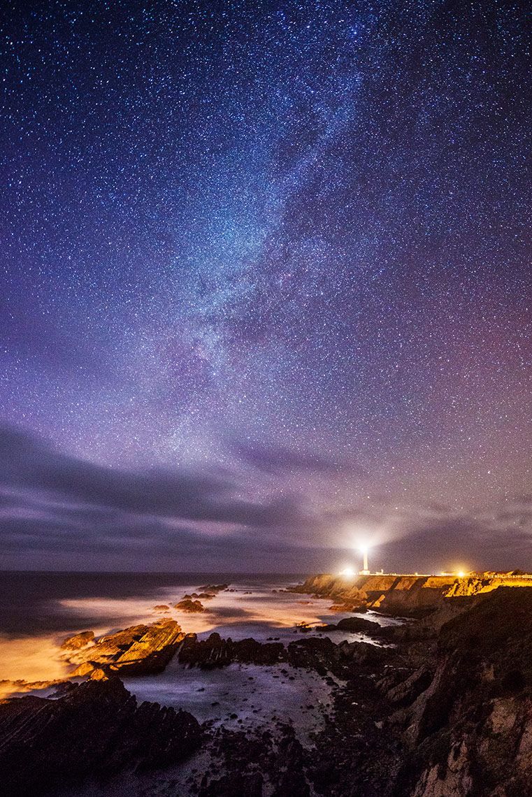 Night Sky - Point Arena Lighthouse, Point Arena, California
