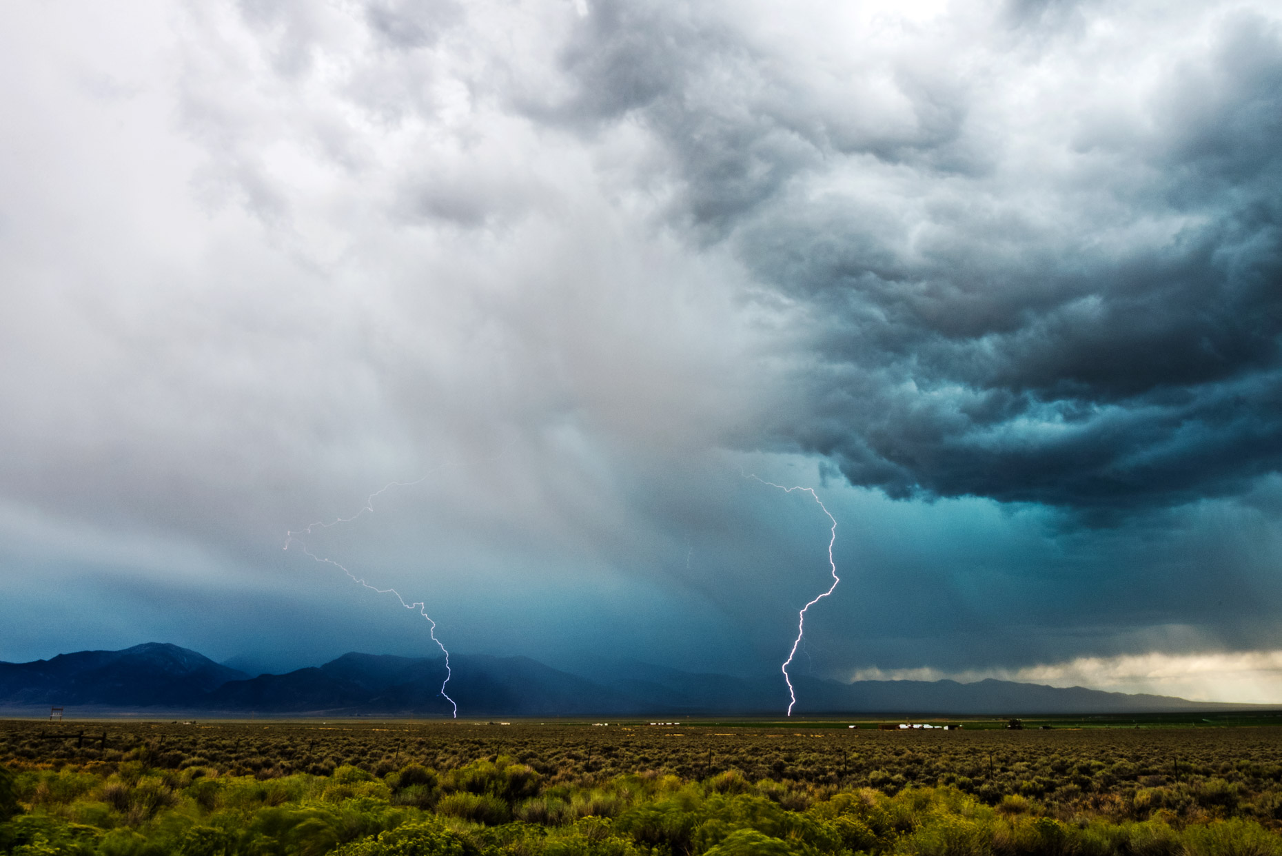 Lightning Strikes In The Desert - Ely, Nevada