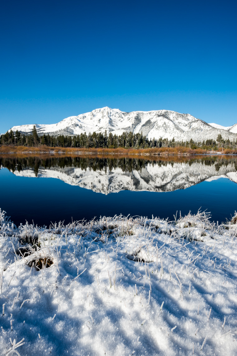 Mount Tallac Winter Reflections - South Lake Tahoe, California