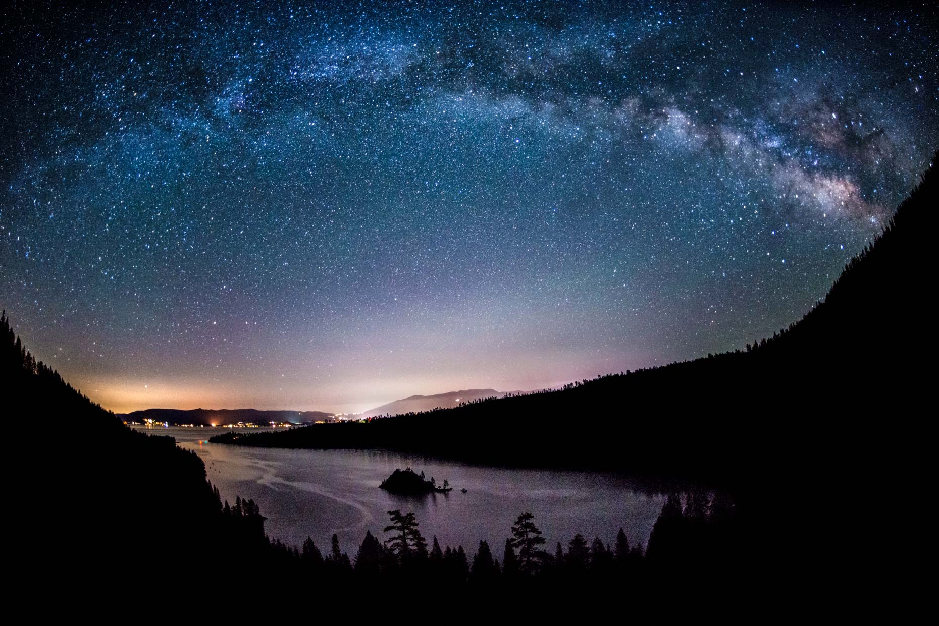 Milky Way Over Emerald Bay - Lake Tahoe, California