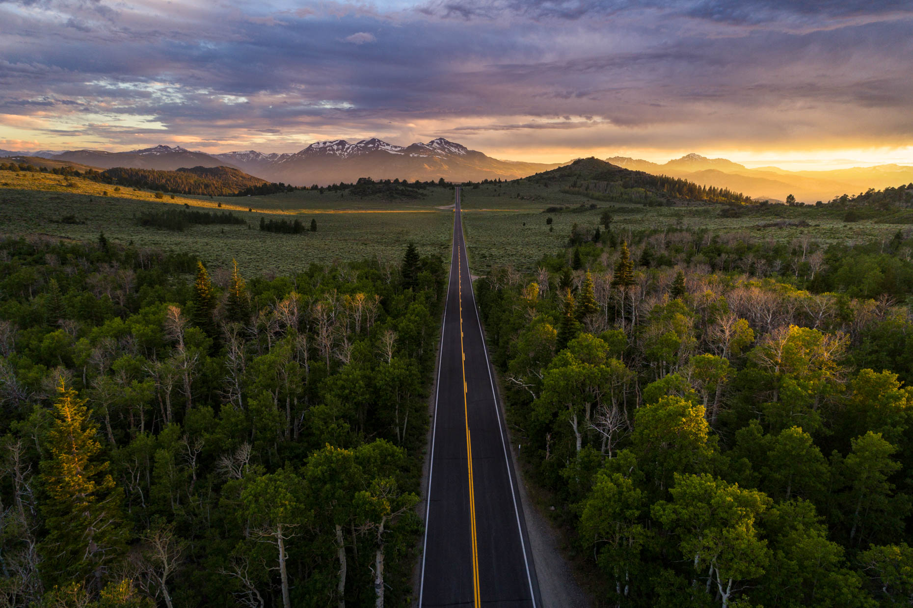 Drone - Monitor Pass Sunset, Markleeville, California