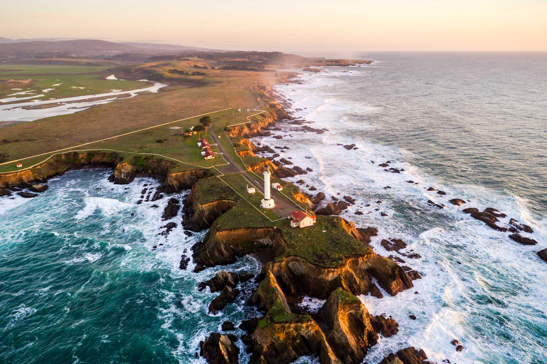 Drone - Point Arena Lighthouse, Mendocino, California