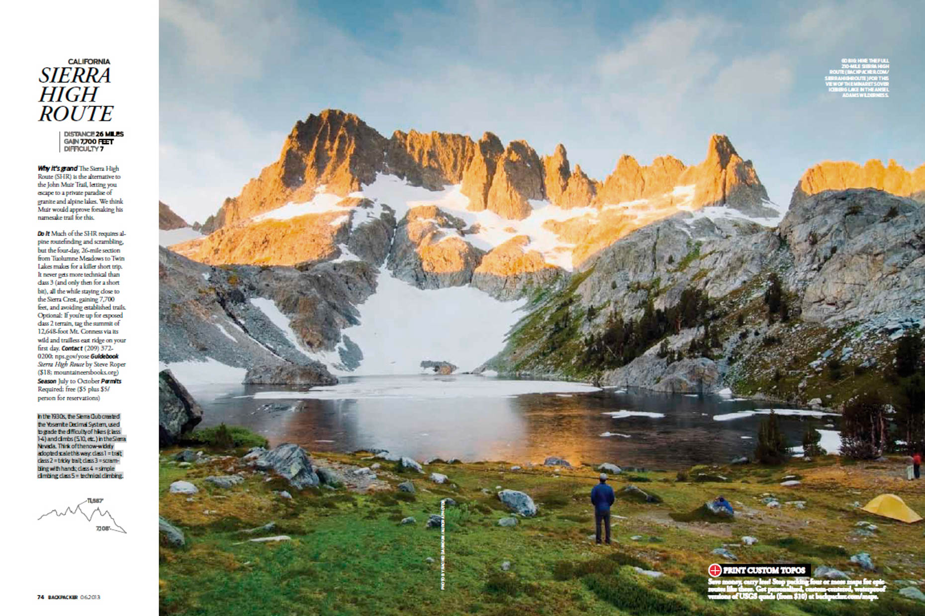 Backpacker Magazine - The Sierra High Route, California