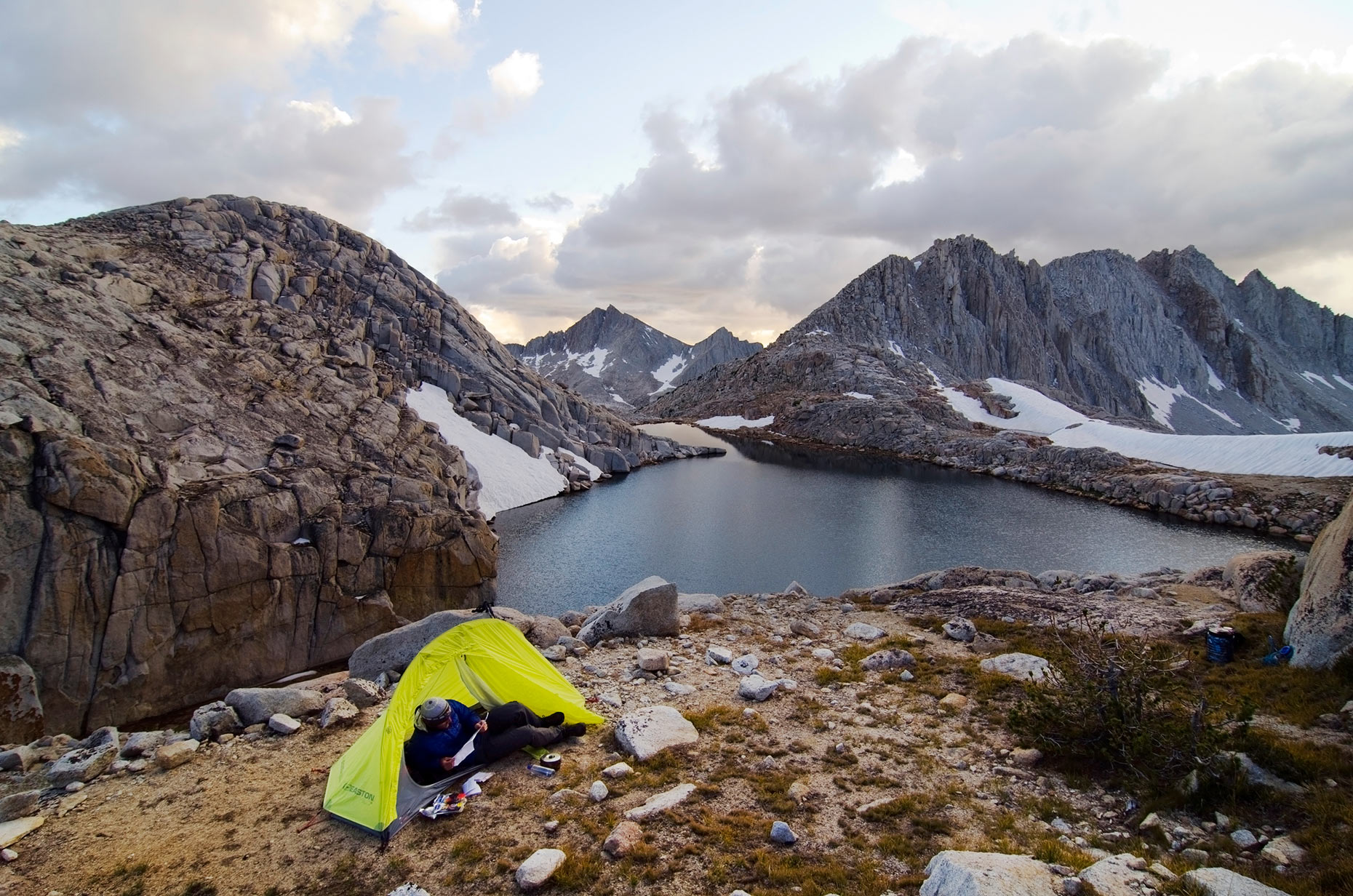 Camping At White Bear Lake - Bear Lakes Basin, Sierra Nevada, California