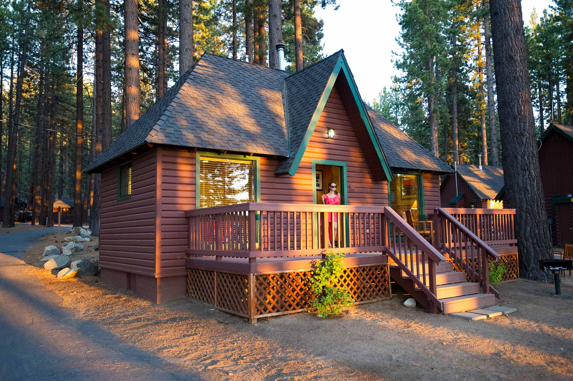 Cabin At Sunset - Zephyr Cove Resort, Lake Tahoe, Nevada