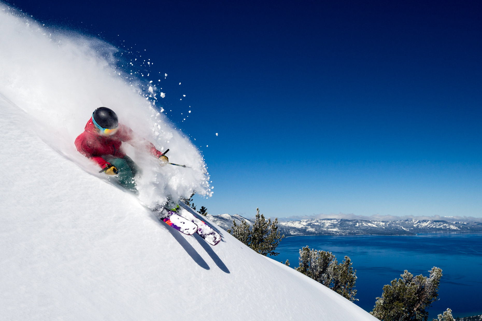 Skiing At Heavenly Mountain Resort, Nevada