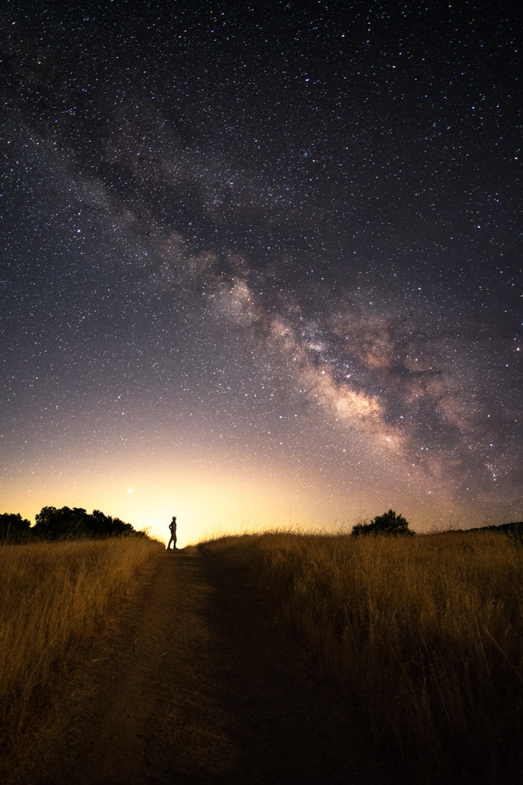 Night Sky - Standing Under The Milky Way - Sonoma County, California