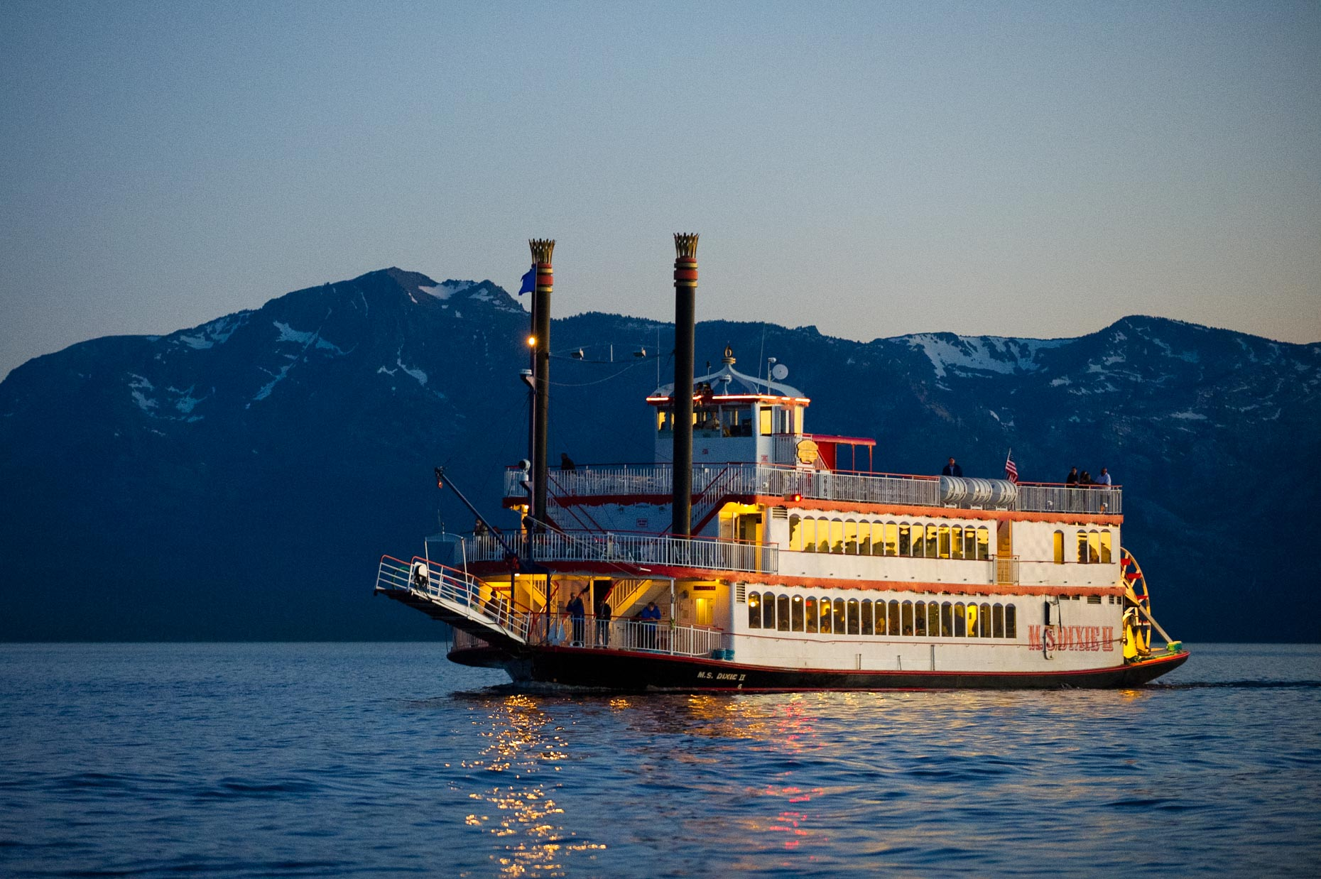 MS Dixie 2 At Dusk - Lake Tahoe