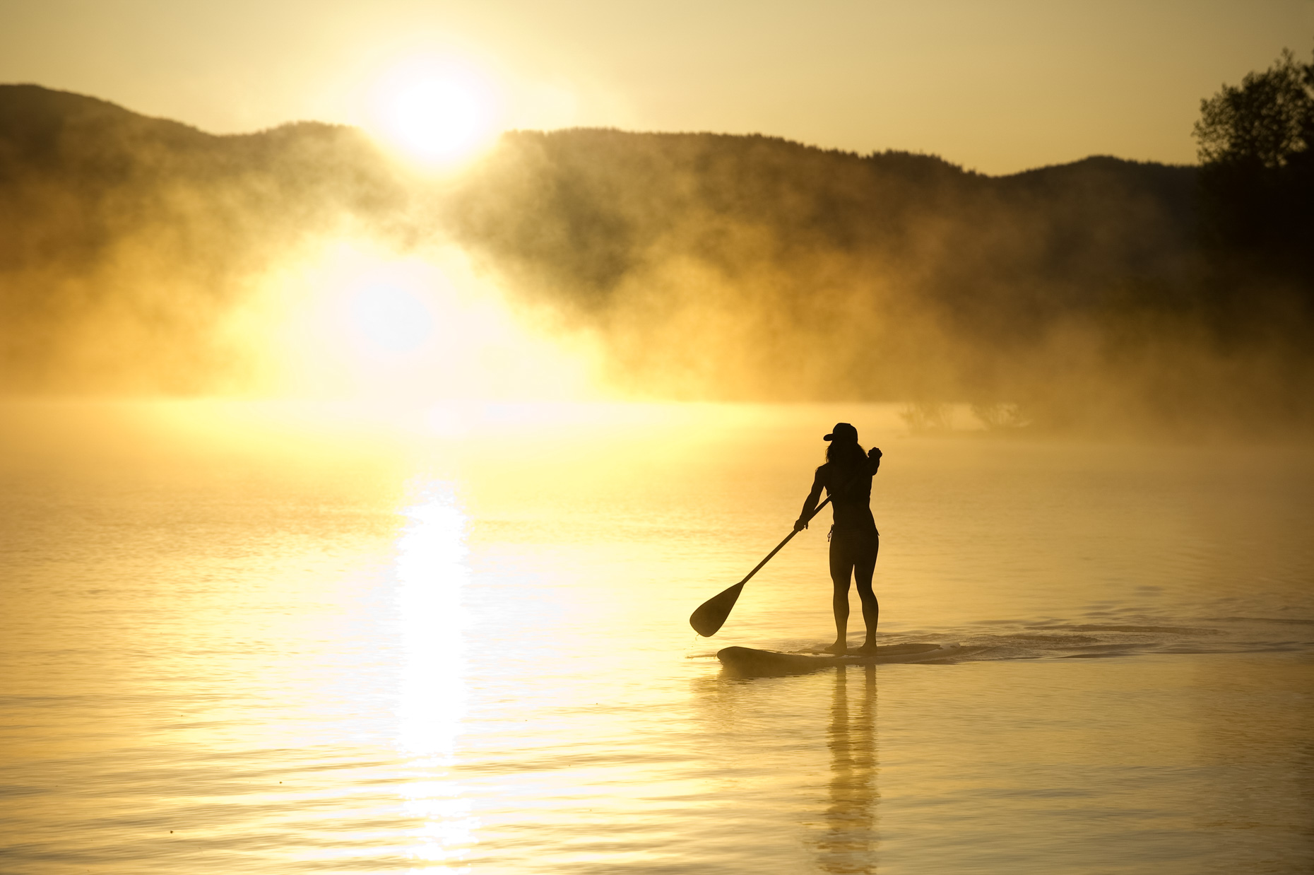 Sunrise Stand Up Paddleboarding (SUP) - Lake Tahoe, California