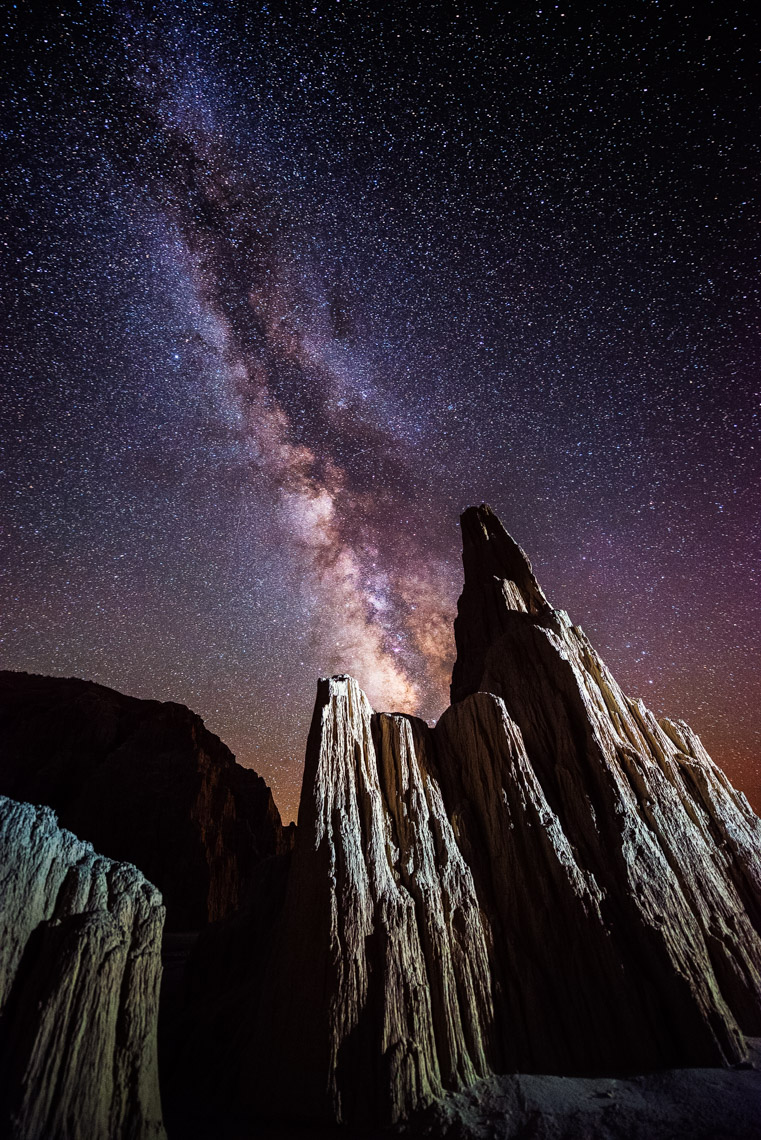 Night Sky - Cathedral Gorge State Park Light Painting - Pioche, Nevada