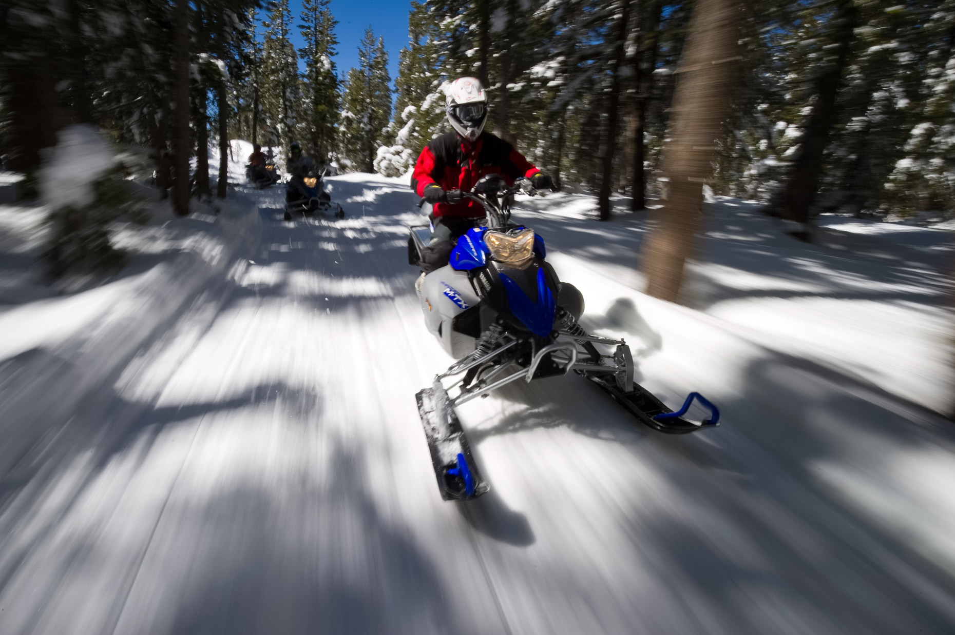 Snowmobiling On Spooner Summit - Lake Tahoe, Nevada