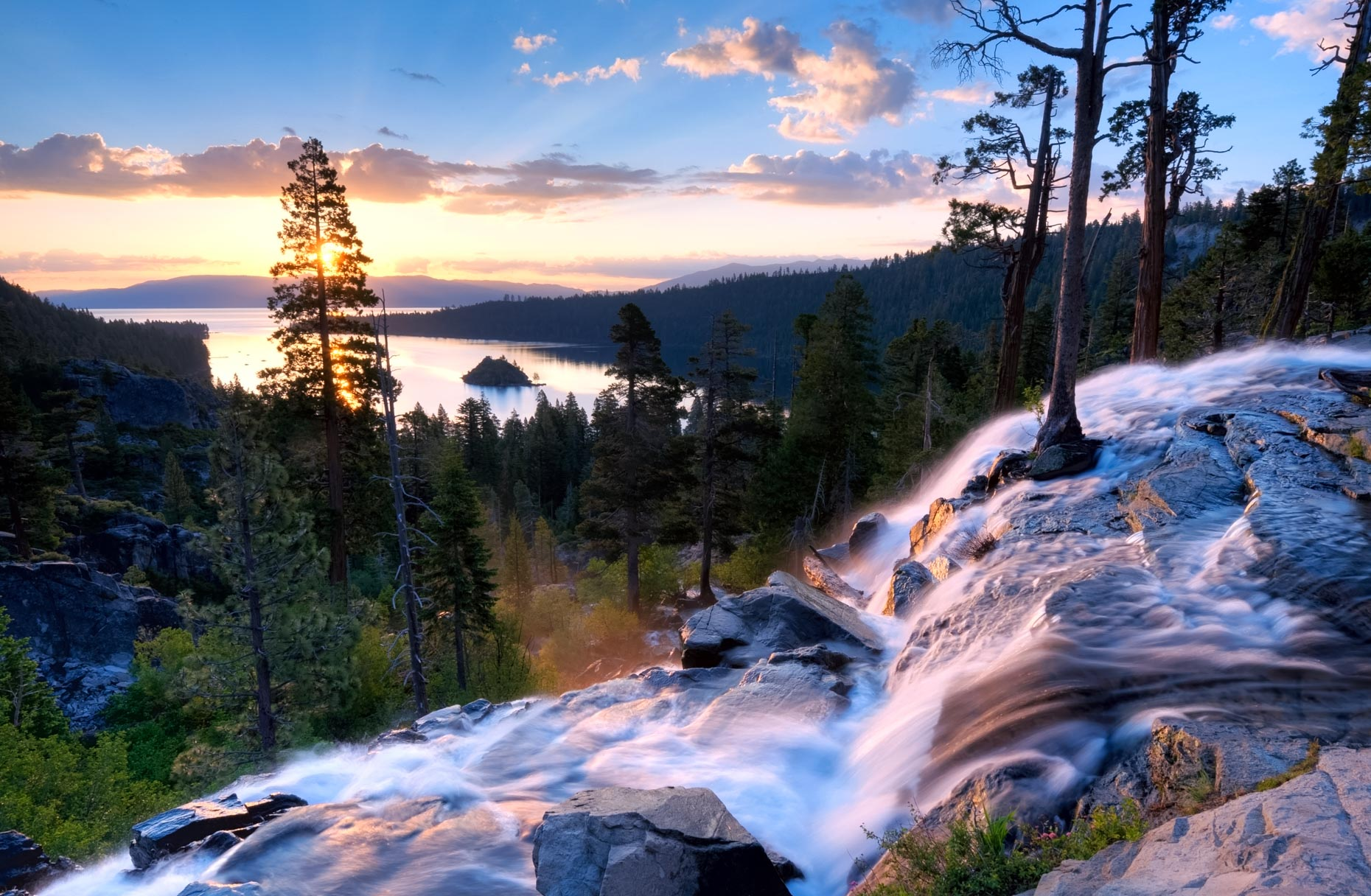 Sunrise Over Eagle Falls And Emerald Bay - South Lake Tahoe, California