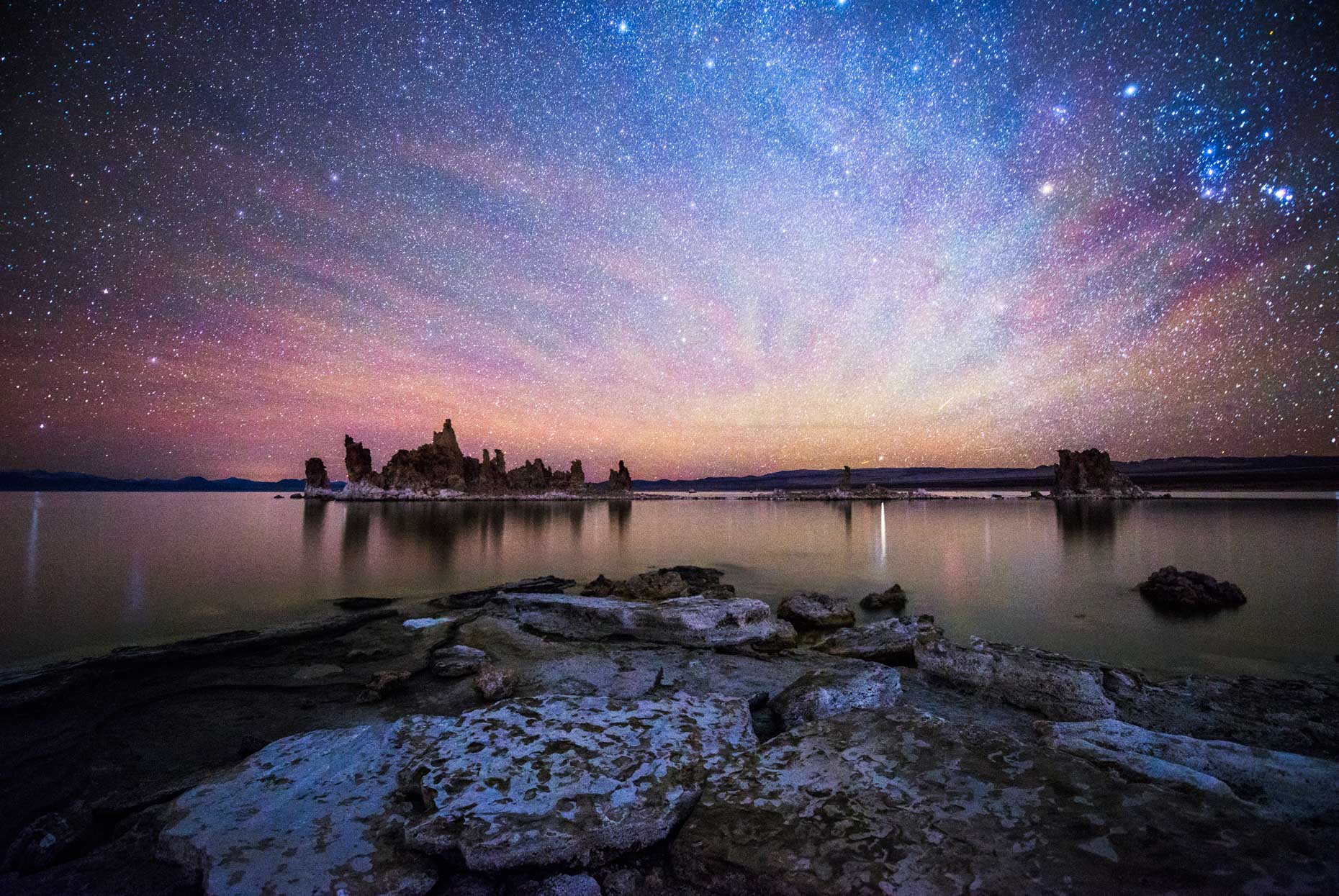 Mono Lake Tufa State Natural Reserve at Night - Lee Vining, California