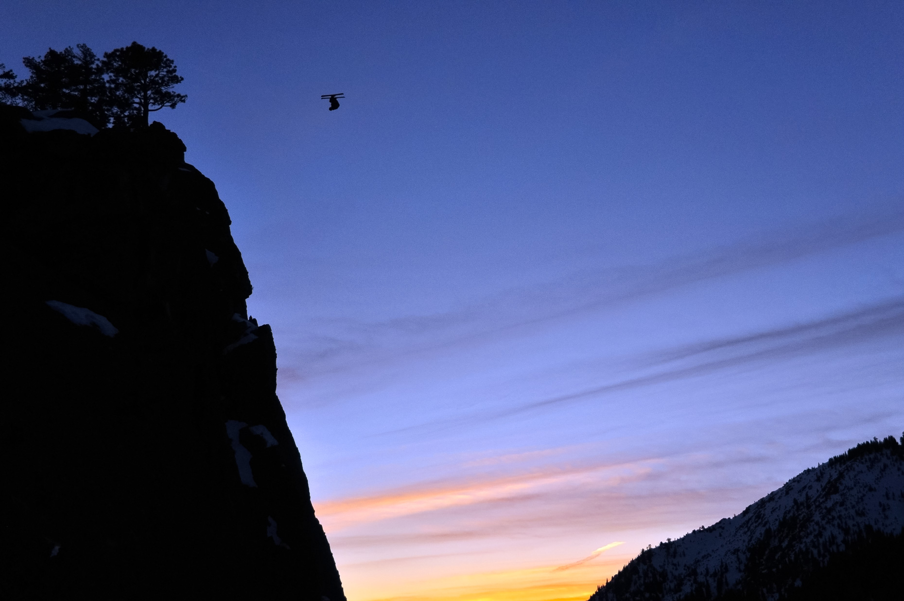 Lovers Leap Ski BASE Jump - Josh Daiek - Strawberry, California