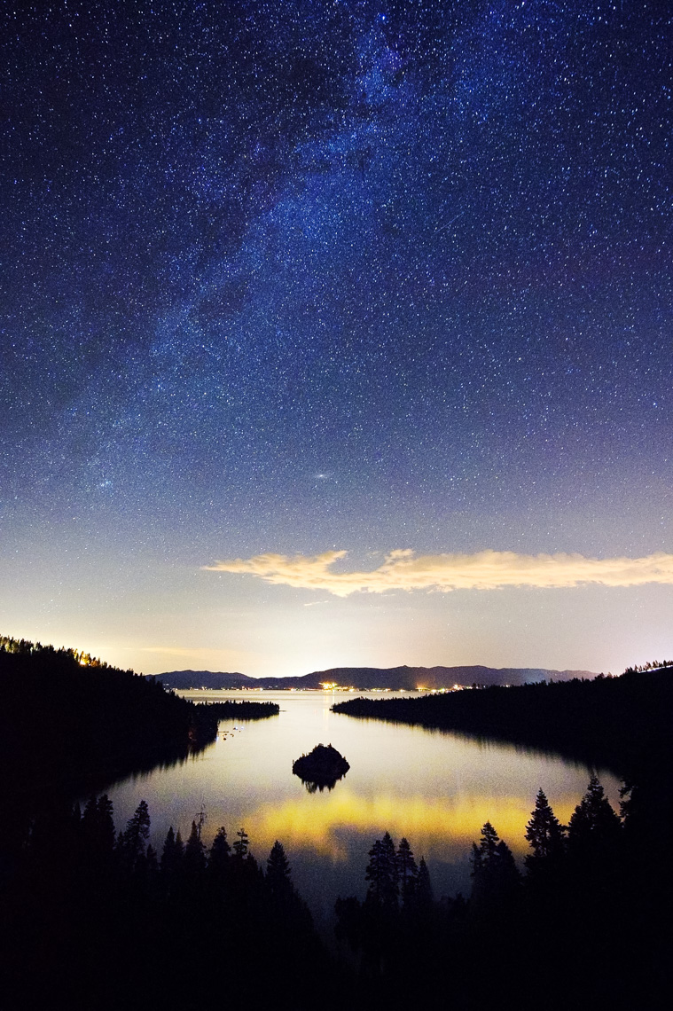 Milky Way And Stars Over Emerald Bay - South Lake Tahoe, California