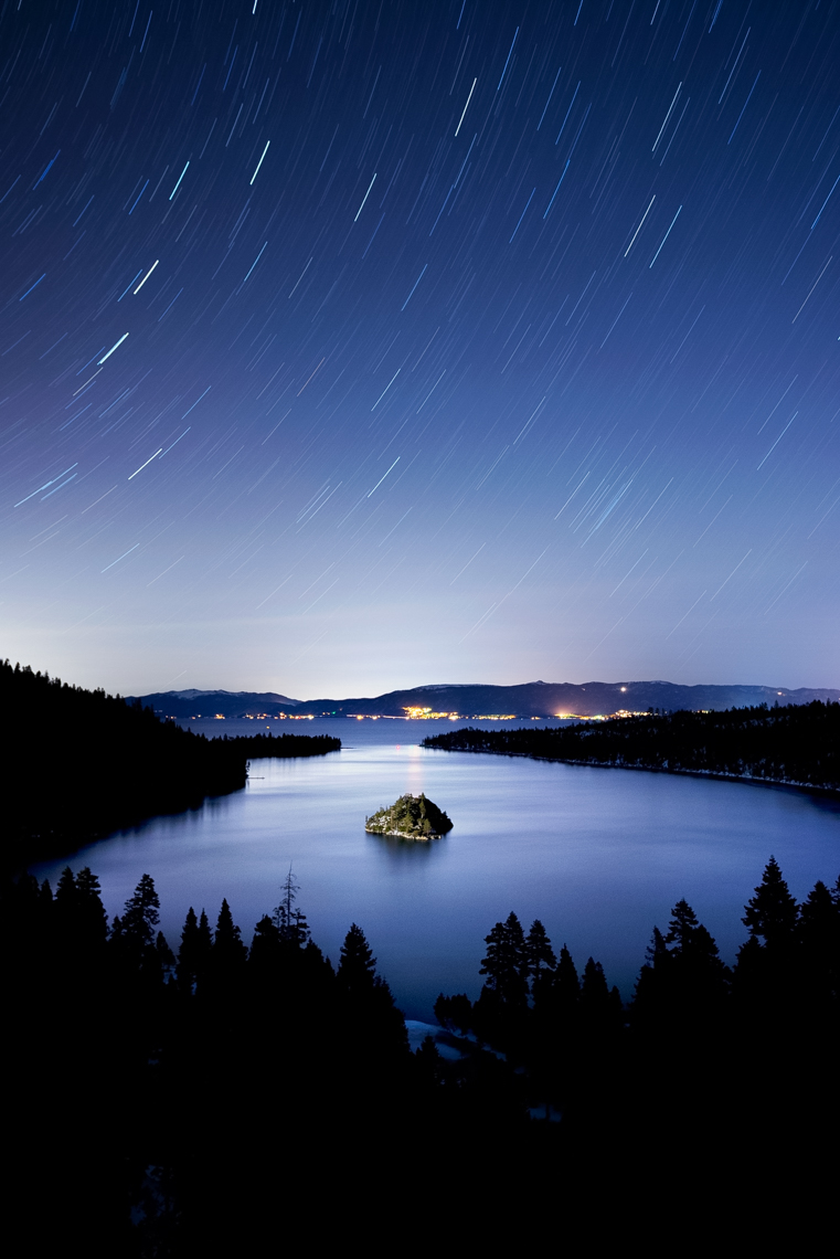 Night Sky - Large Scale Light Painting - Emerald Bay, Lake Tahoe, California