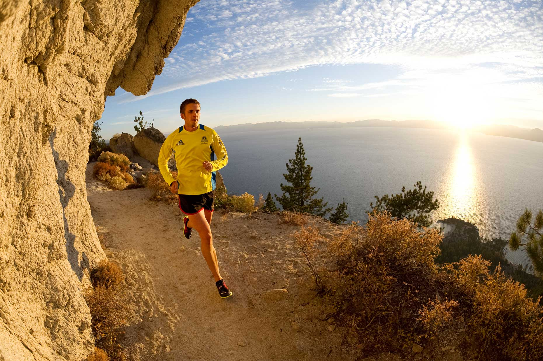 Trail Running On The Flume Trail - Lake Tahoe, Nevada
