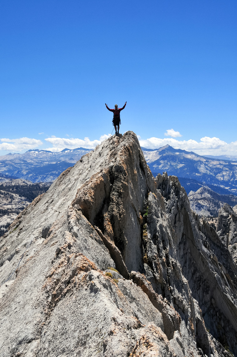 Climber On Matthes Crest - Yosemite National Park, California